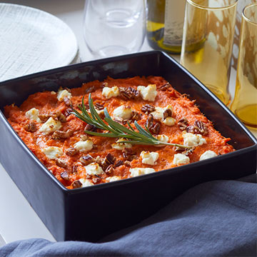 Sweet Potatoes with Goat Cheese Mallows