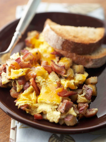 Bacon, Ham and Egg Hash
