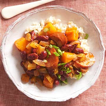 Red Beans and Rice with Squash
