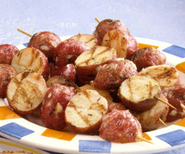 Skewered New Potatoes