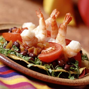 Mexican Shrimp Tostadas