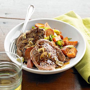 Garlic Pork and Sweet Potato Hash