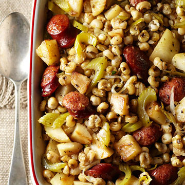 Hominy and  Sausage Bake