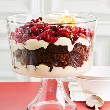 White Chocolate-Gingerbread Trifle