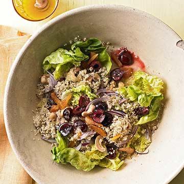 Honey-Soaked Quinoa Salad with Cherries & Cashews