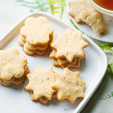 Honey-Rosemary Shortbread Cookies