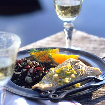 Trout with Chardonnay-Orange Cream Sauce
