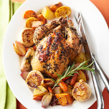 Lemon-Rosemary Chicken with Roasted Vegetables