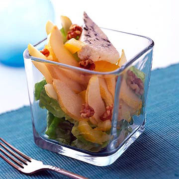Winter Pear and Walnut Salad with Dijon Vinaigrette