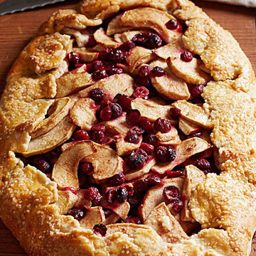 Apple, Cranberry and Pecan Galette