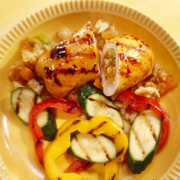 Apricot-Stuffed Chicken with Flair