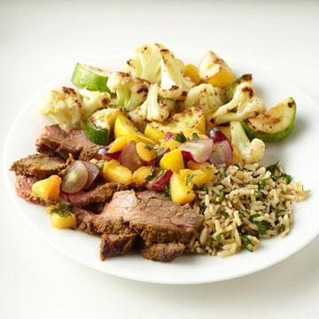 Skillet-Roasted Cauliflower and Squash