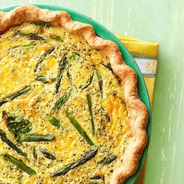 Spinach-Asparagus Quiche