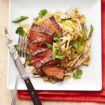 Lemon Butter Flank Steak