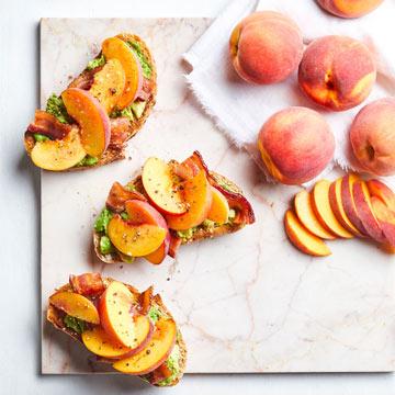 Peach and Bacon Avocado Toast