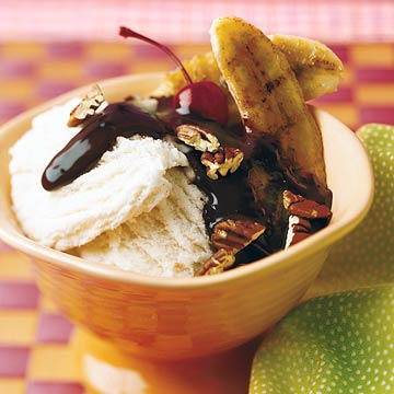 Grilled Banana Split Sundae