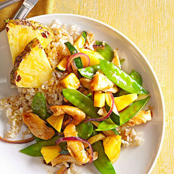 Pineapple-Chicken Stir-Fry