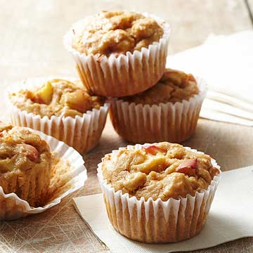 Spiced Apple and Chickpea Muffins