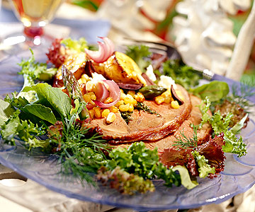 Lamb Salad with Roasted Vegetables