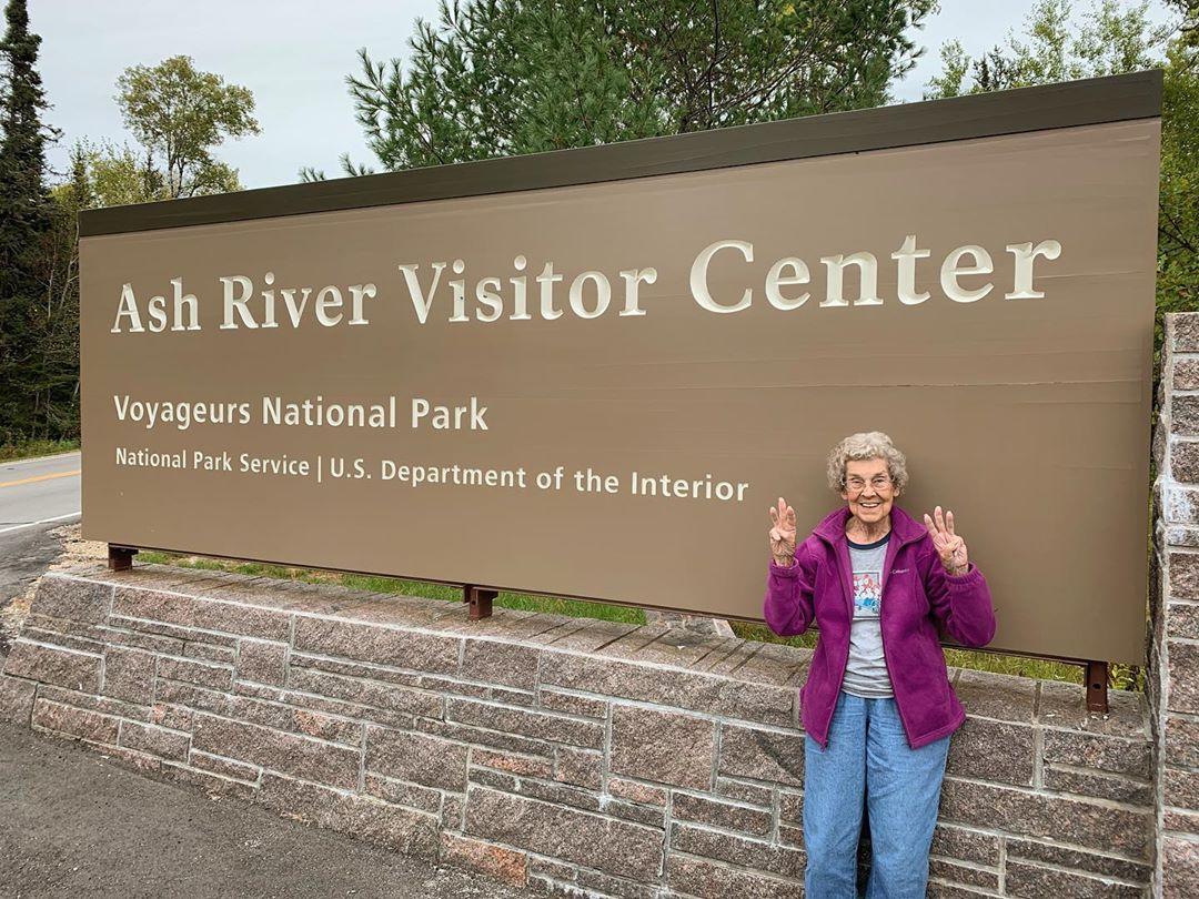 Grandma Joy at Voyageurs