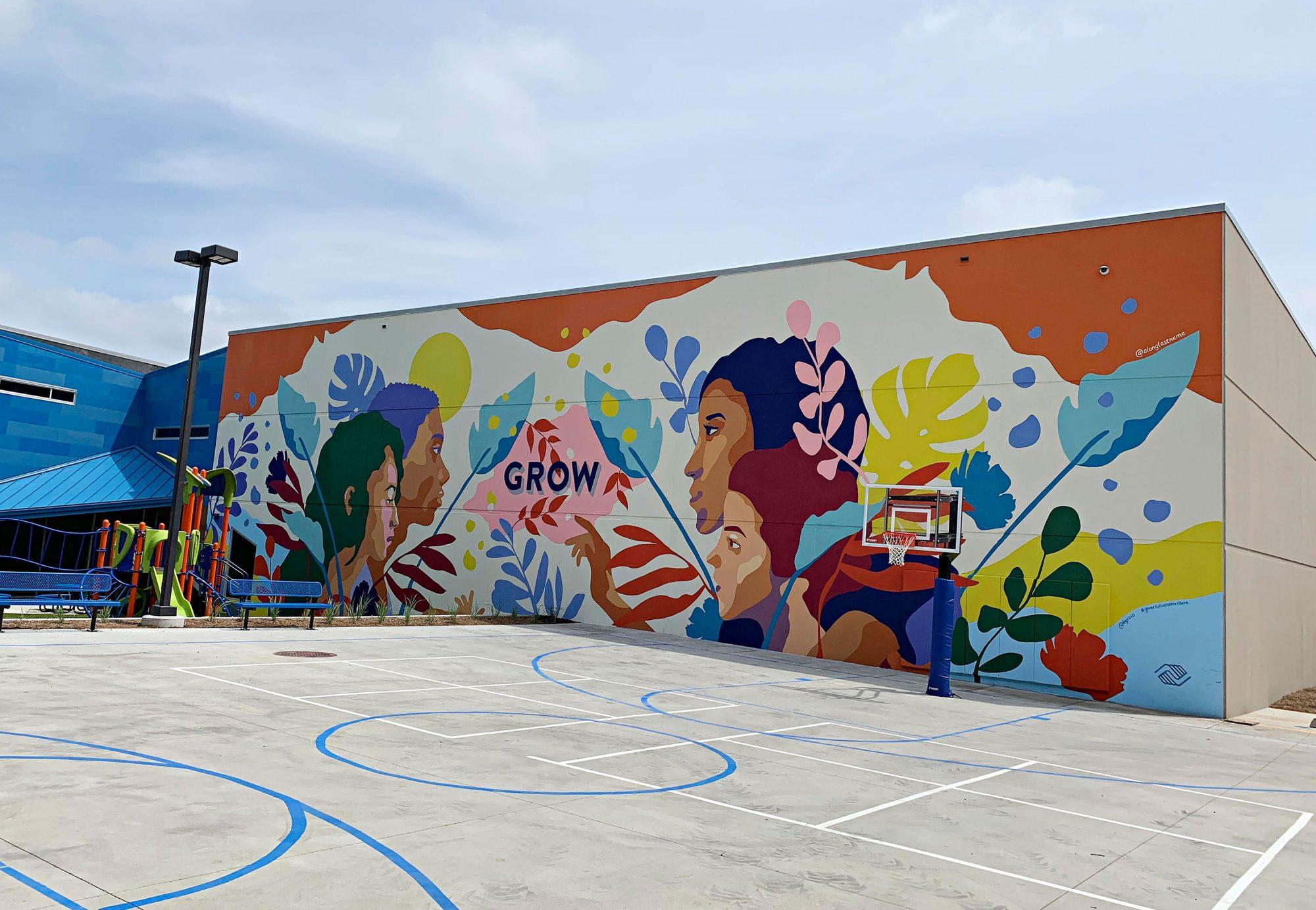 Amanda Phingbodhipakkiya mural project