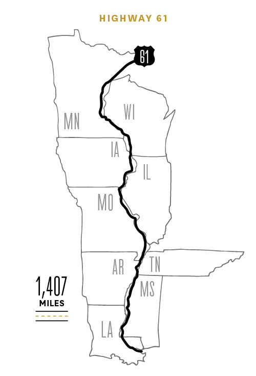 Route 61 map