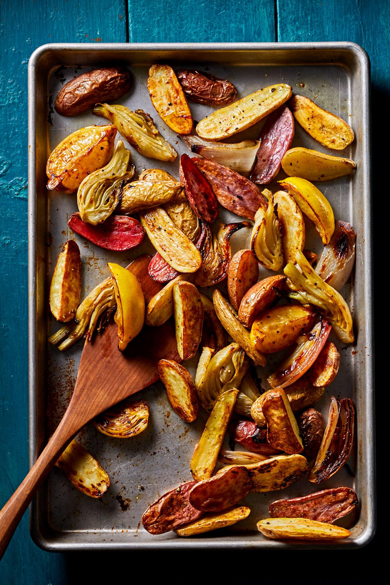 Roasted Potatoes, Fennel and Lemon