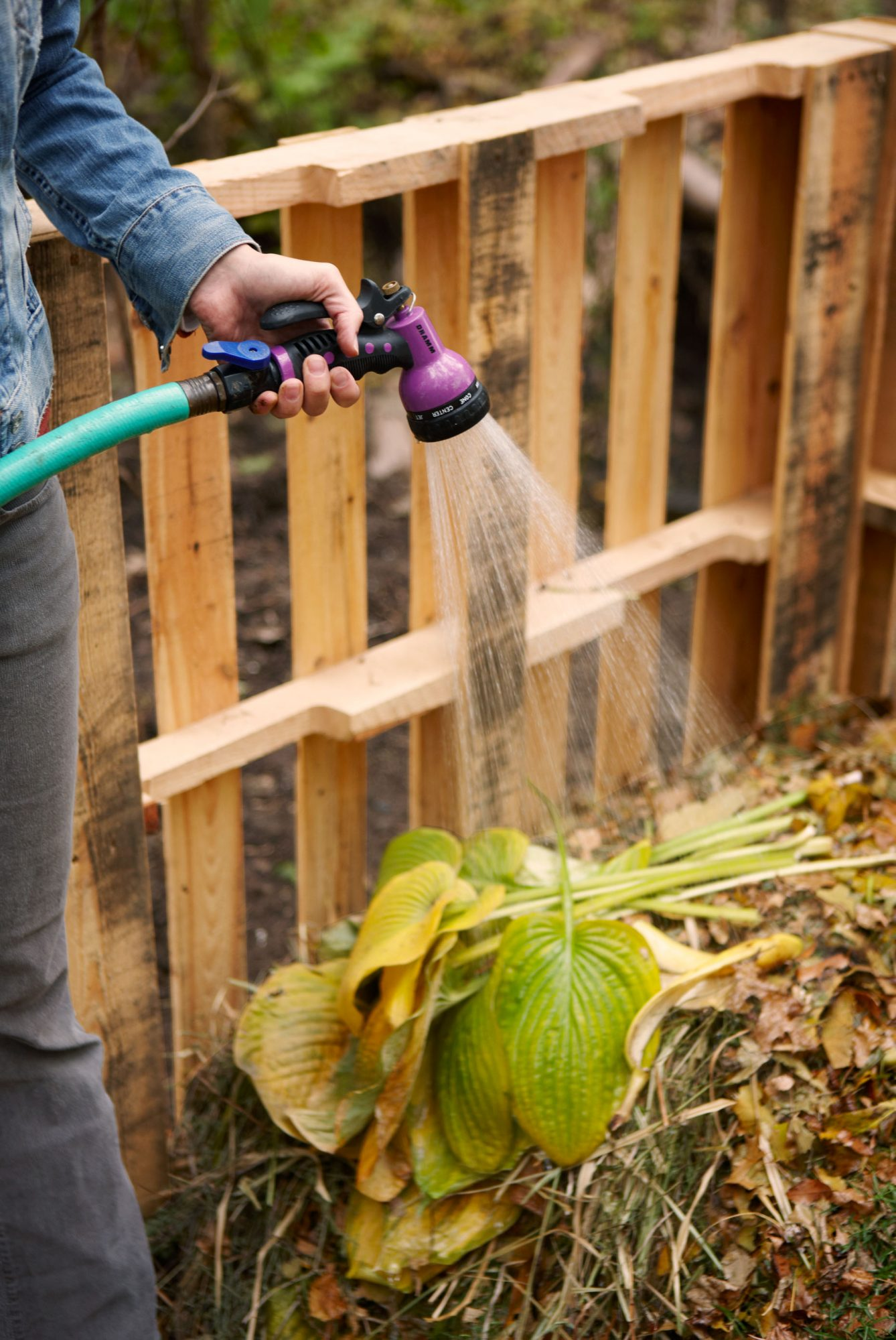 Watering compost