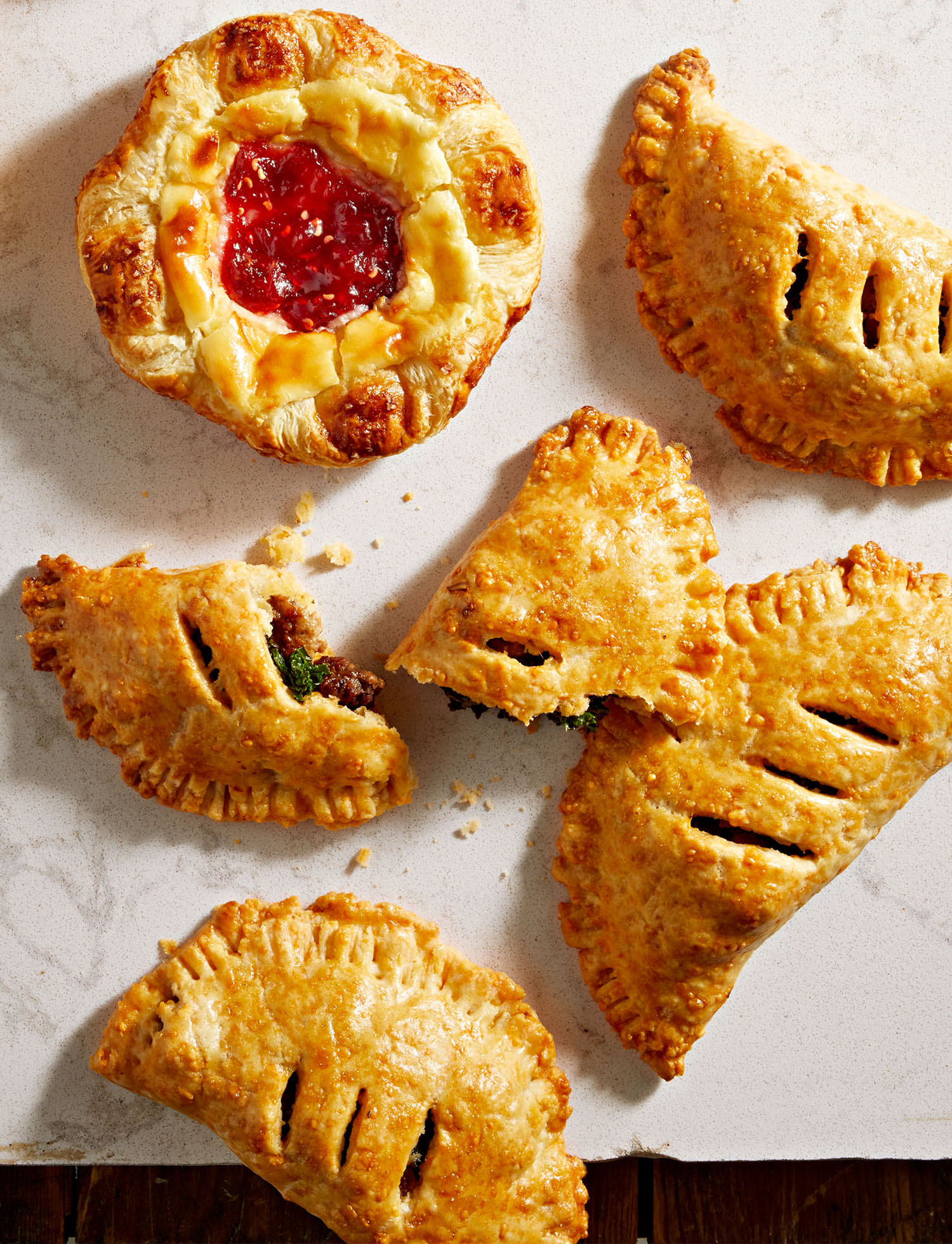 Meat-and-Veg Hand Pies with Cheddar Pastry