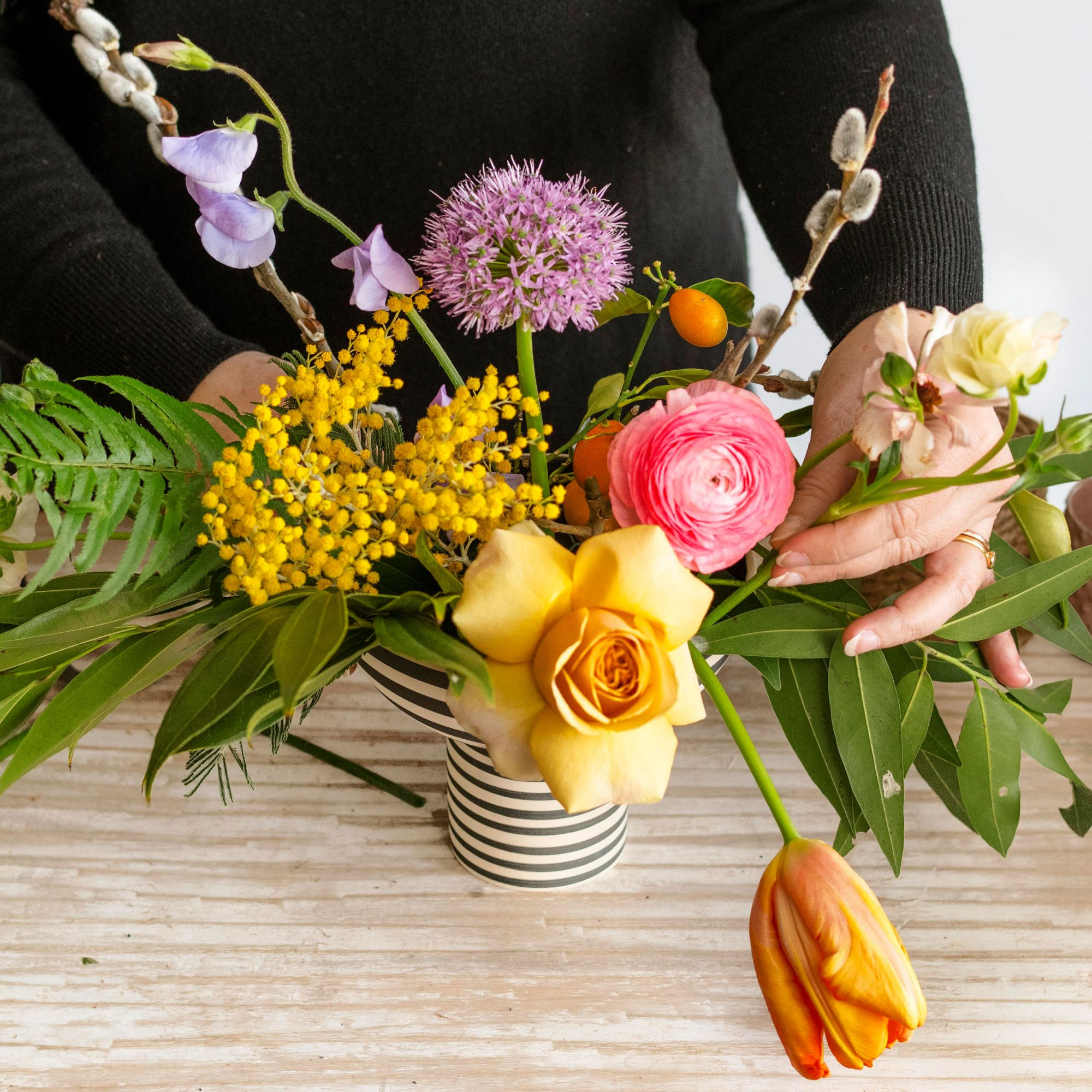 Wildlflower floral arranging