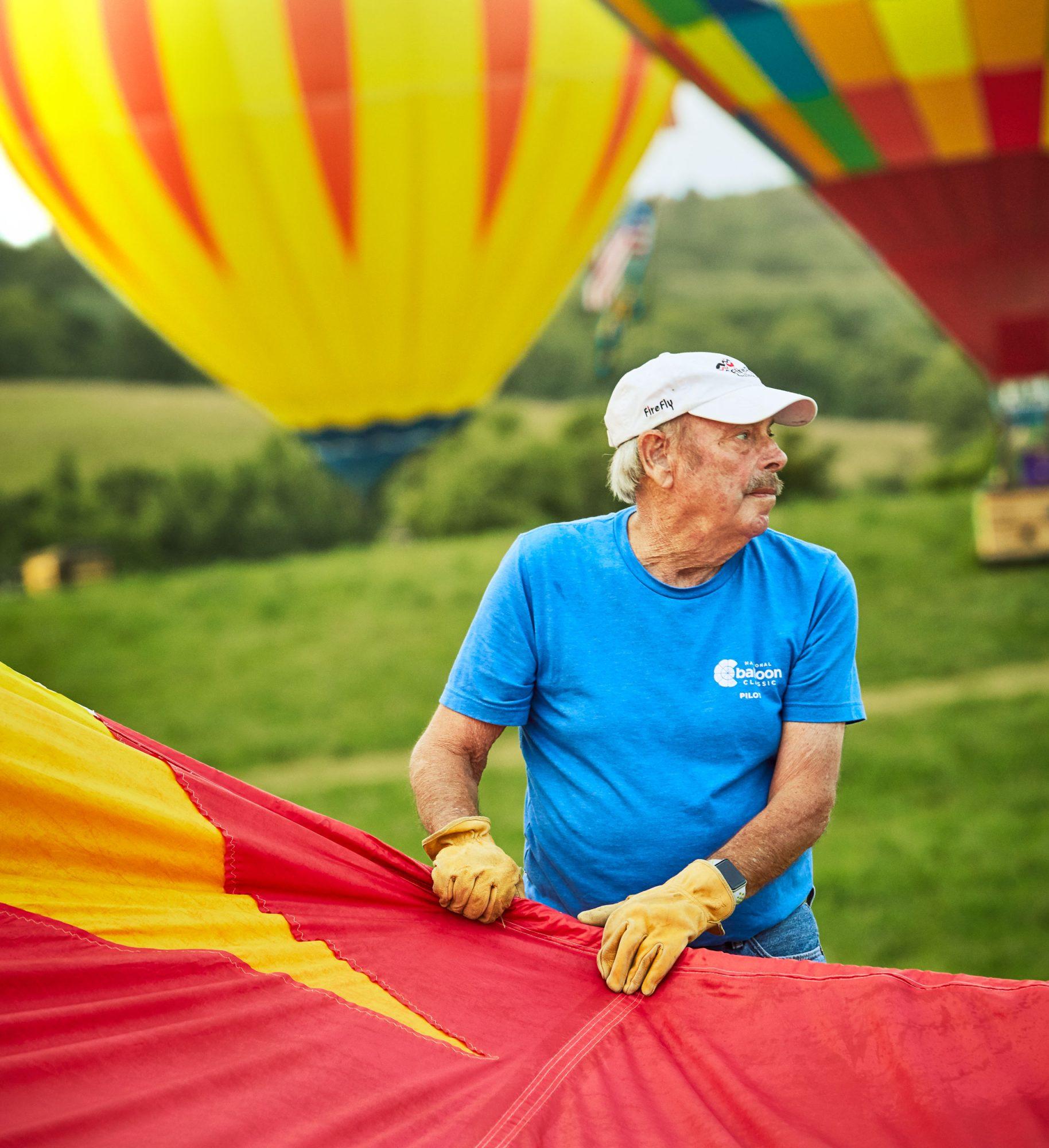 Rob Bartholomew at Indianola National Balloon Classic