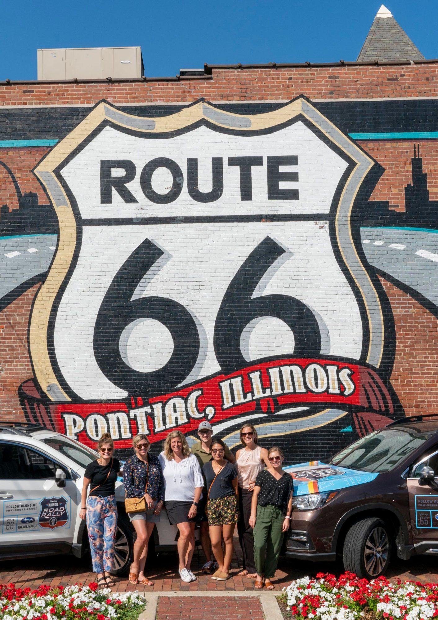 Walldog Route 66 Mural, Pontiac