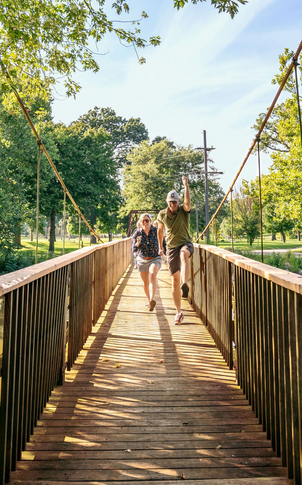 Pontiac's swinging bridges
