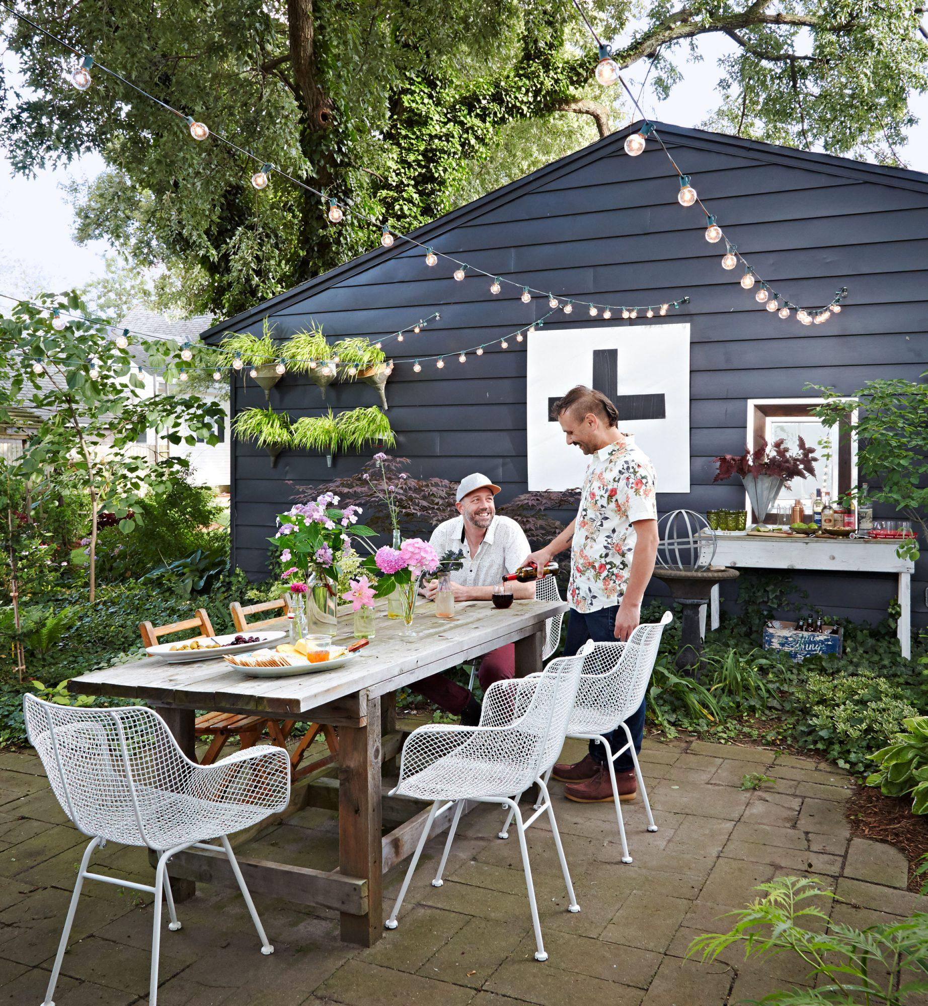 Backyard Dining at Boyles home