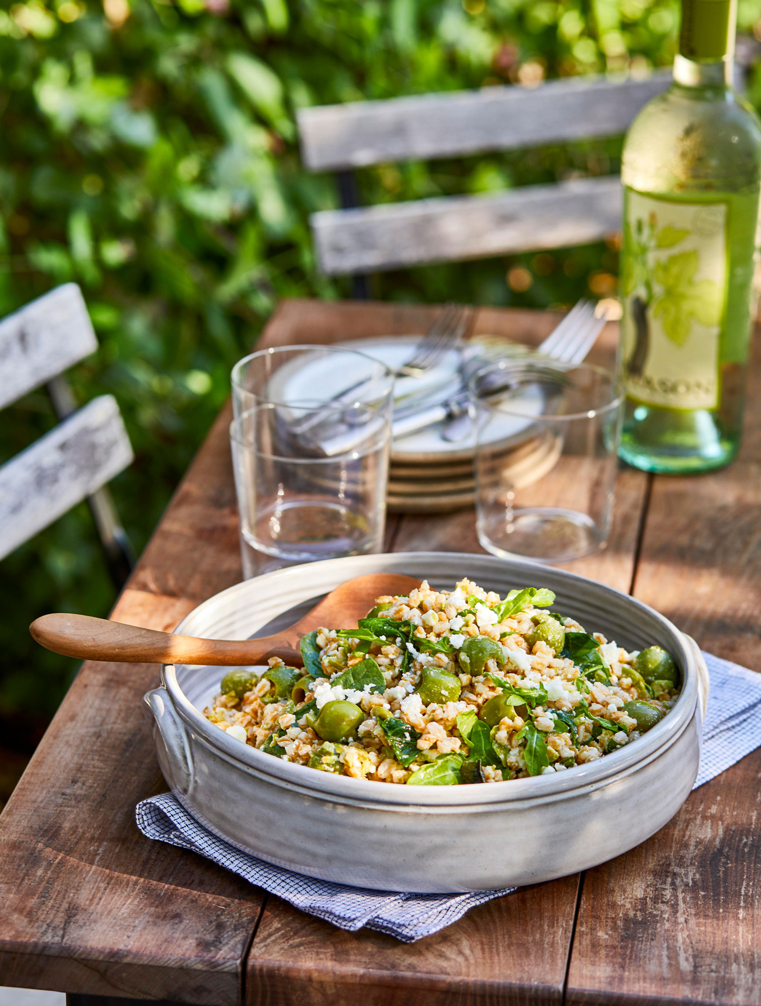 Farro and Olive Salad
