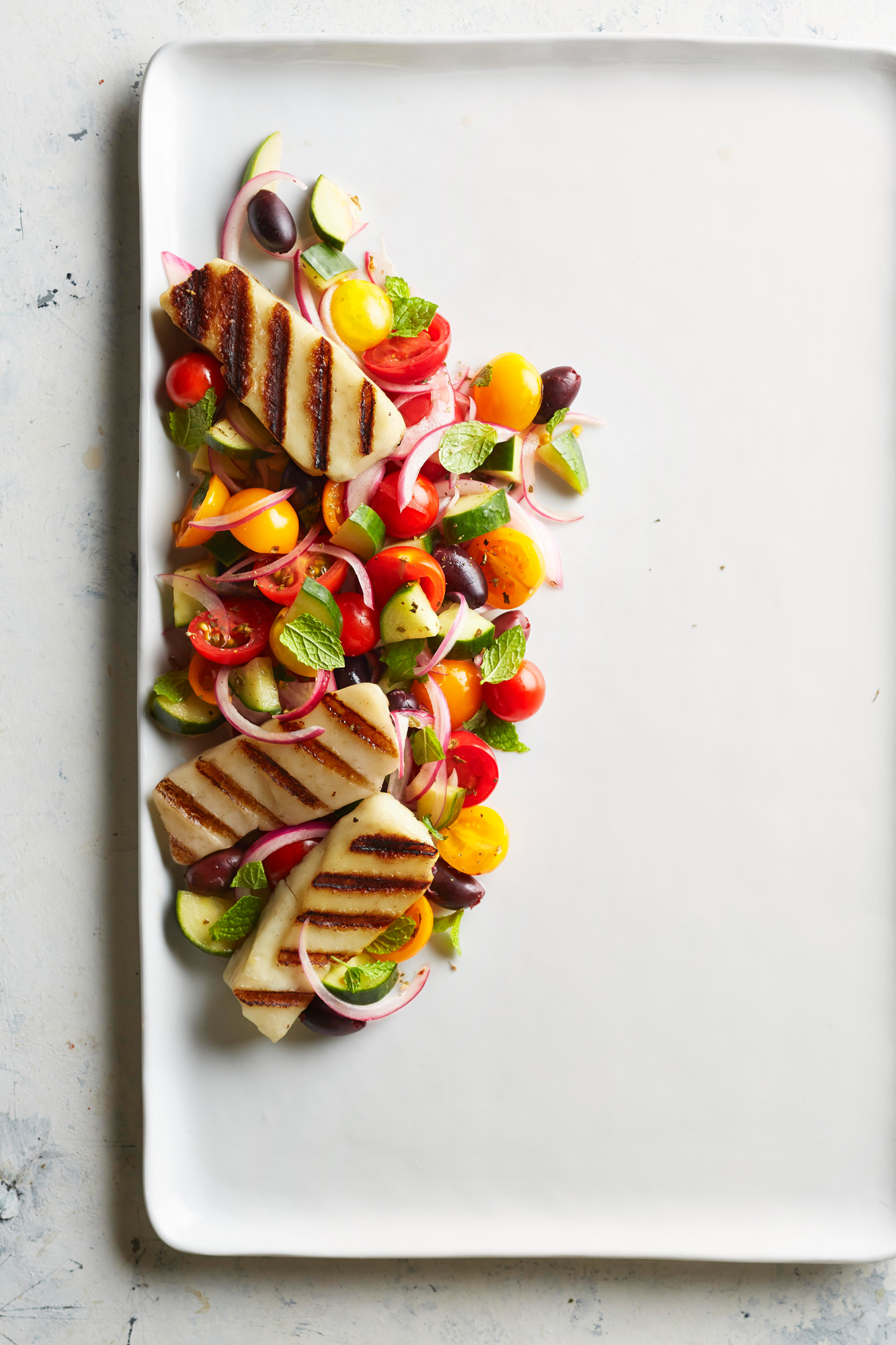 Greek Salad with Halloumi