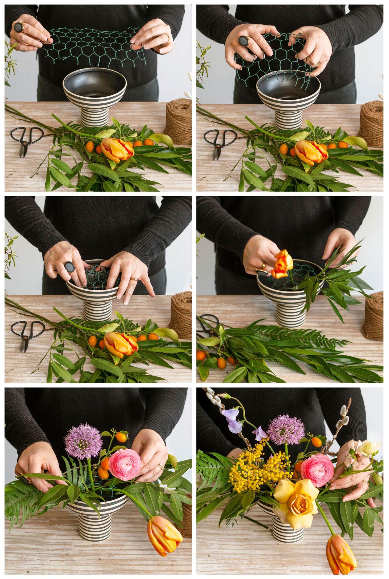 Wildflower arranging