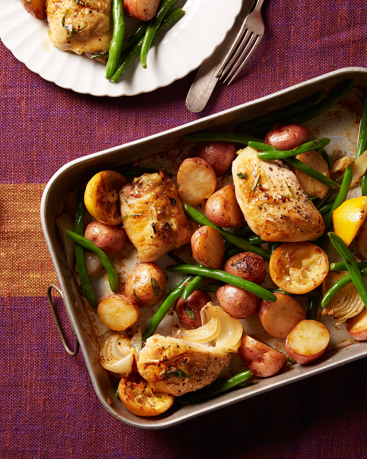 Garlic-Roasted Chicken With Lemon and Vegetables