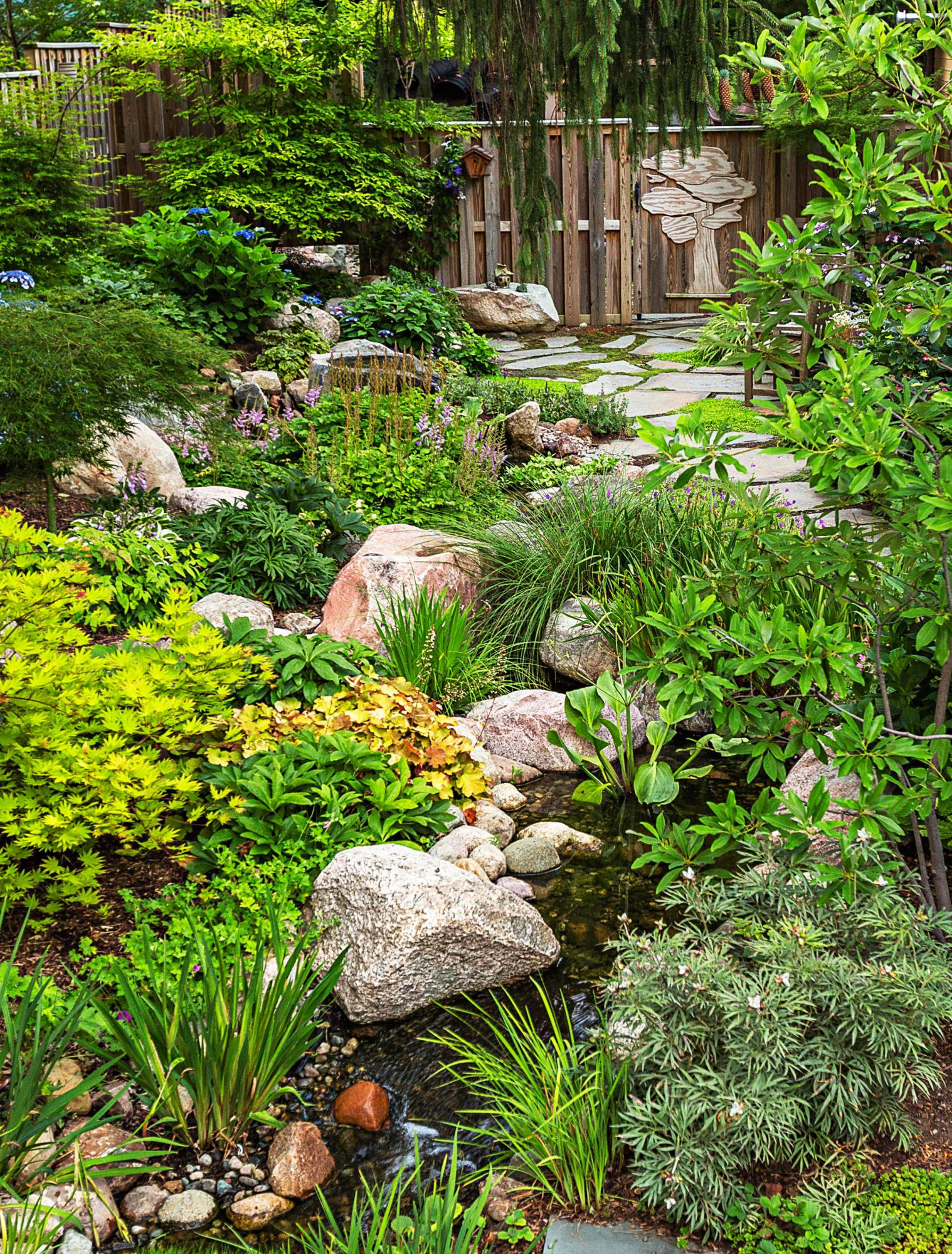 Michigan woodland stream garden