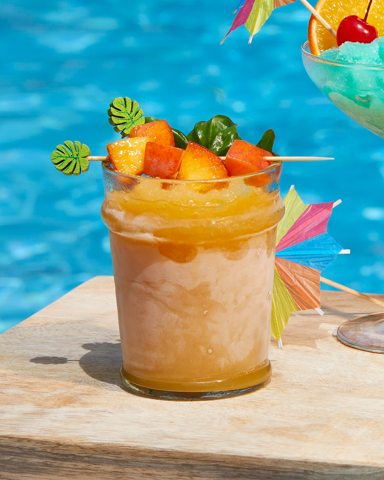Smoky Peach-Bourbon Slushie