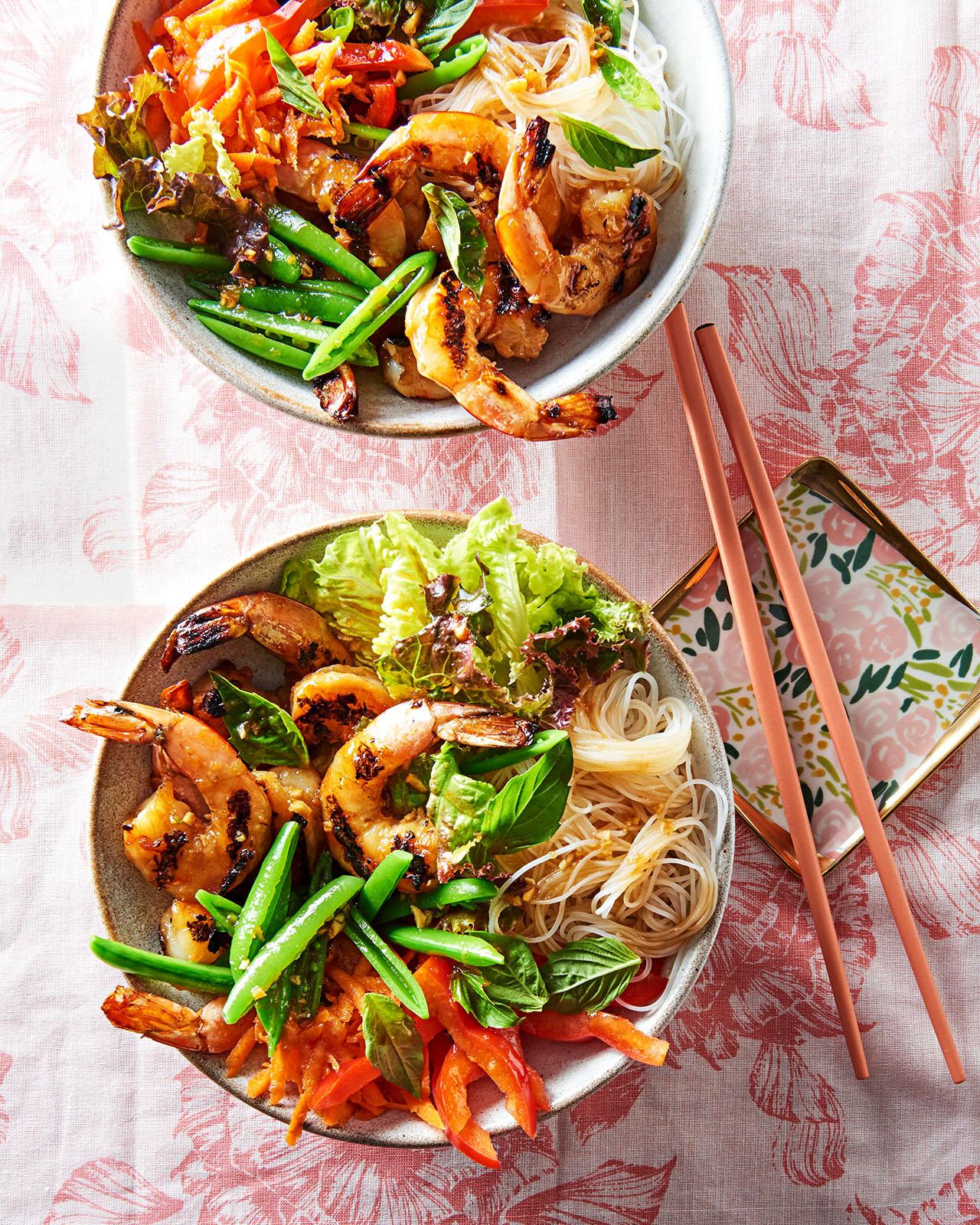 Vietnamese Shrimp and Noodle Bowls