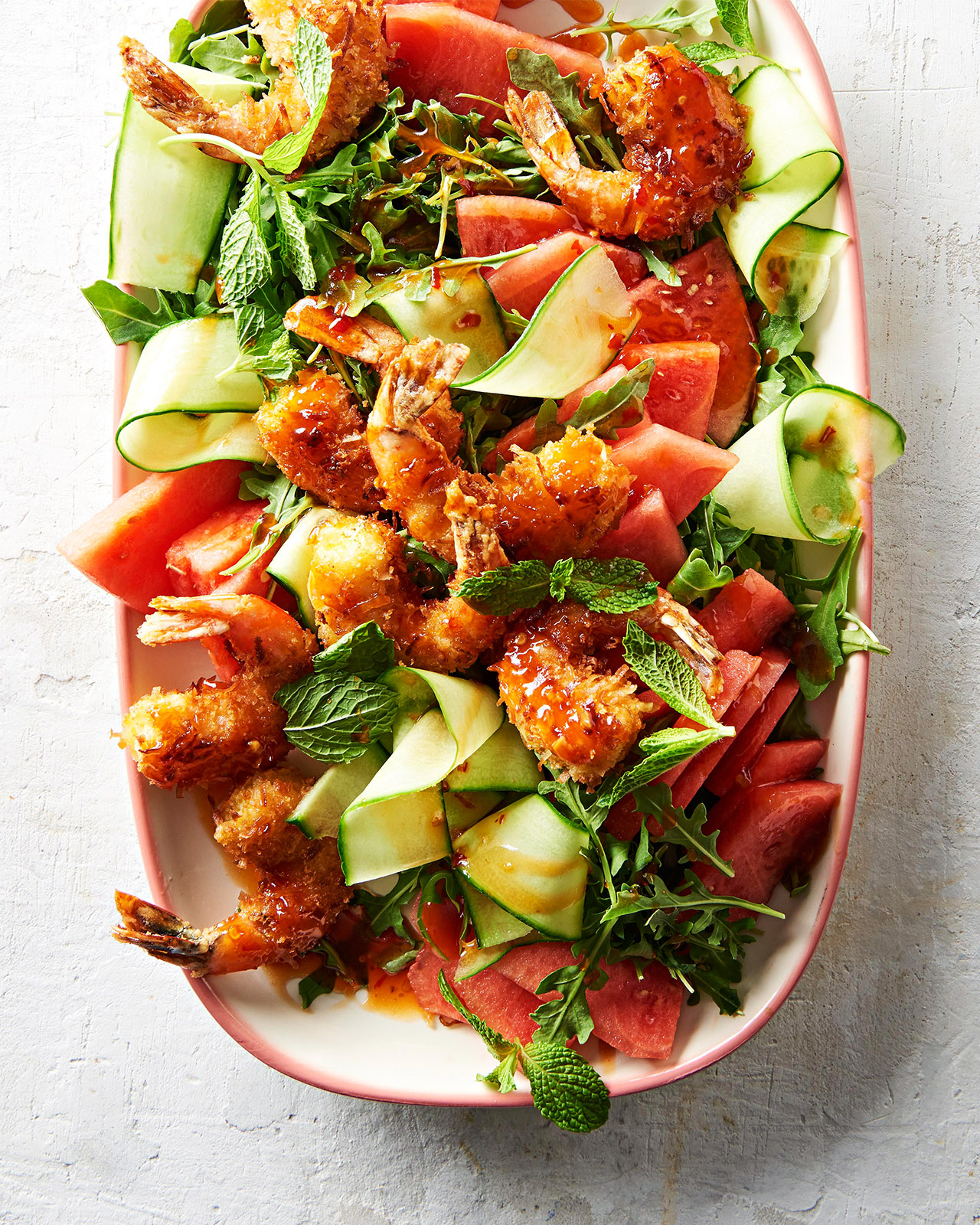 Coconut Shrimp and Watermelon Salad