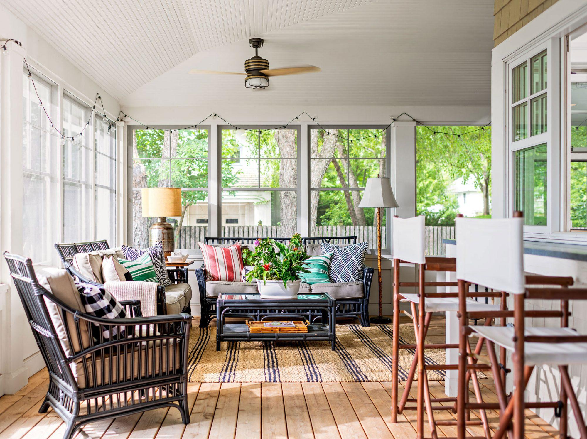 Bassett lake home porch
