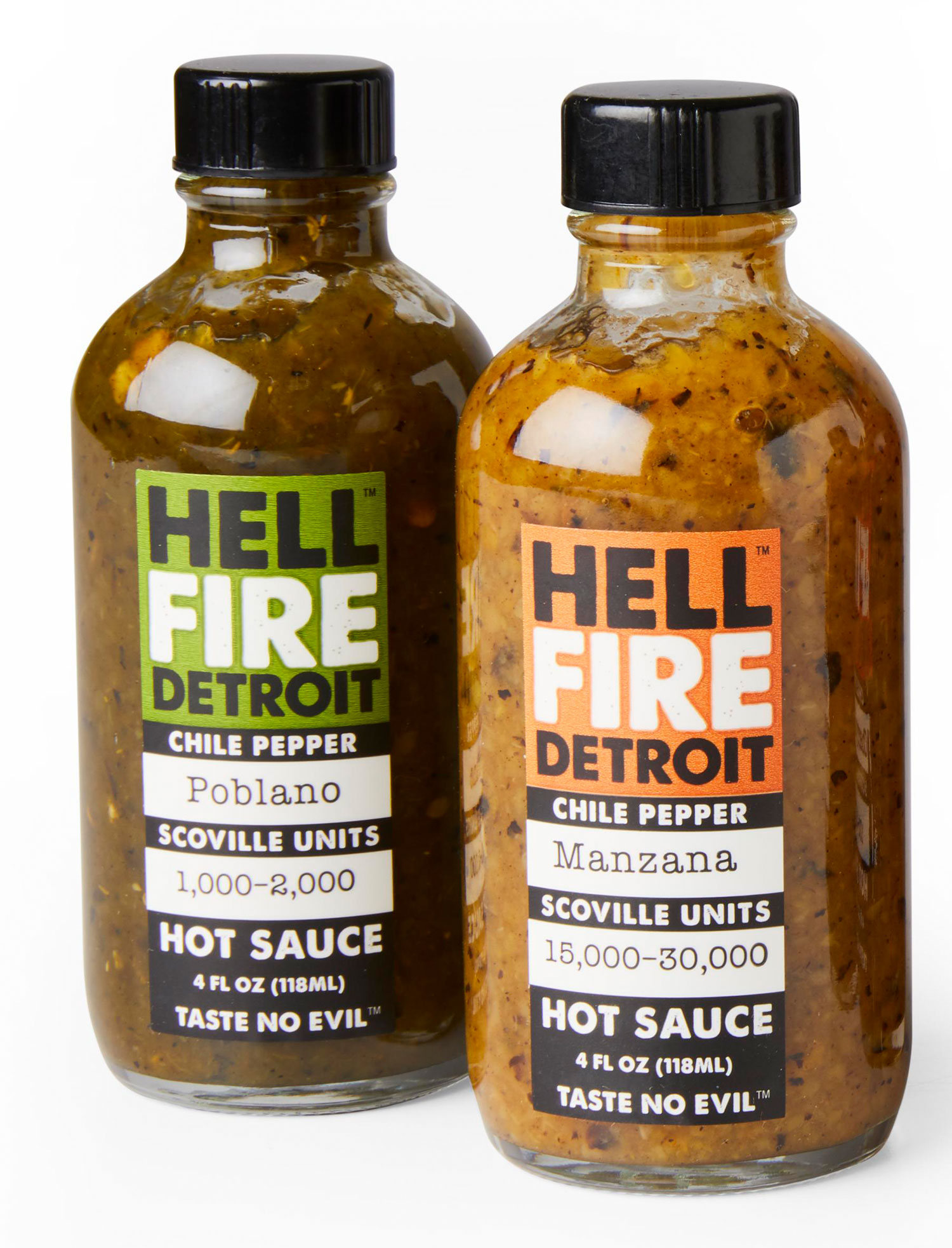 Hell Fire Detroit's hot sauces