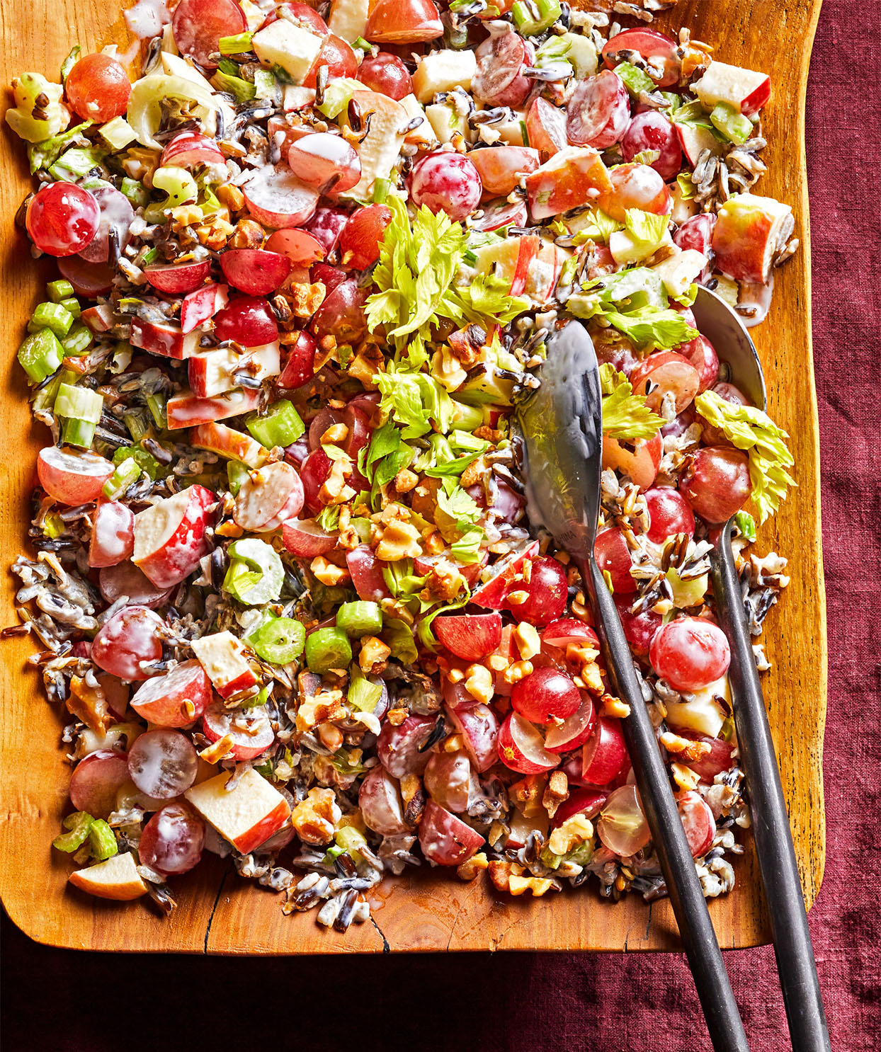 Waldorf Salad with Grapes and Wild Rice