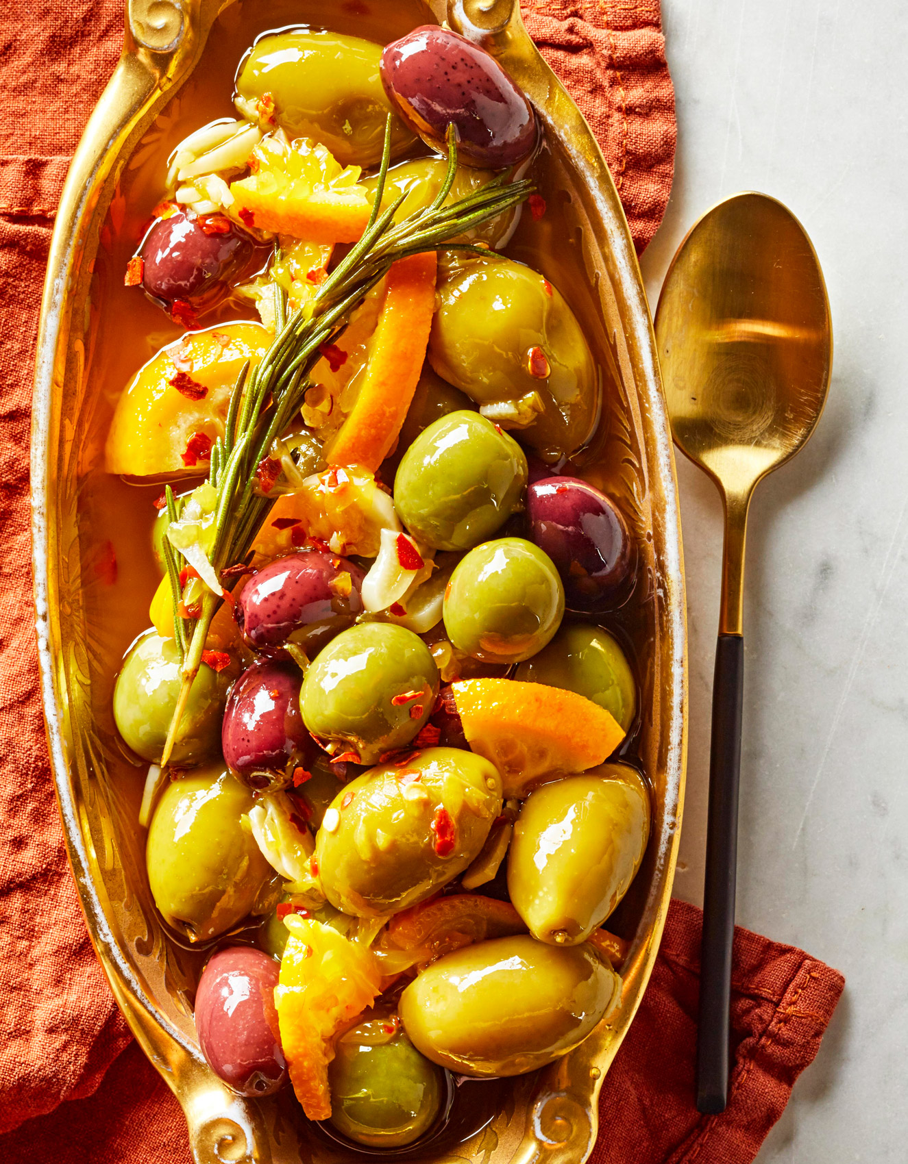 Marinated Olives and Clementines with Rosemary