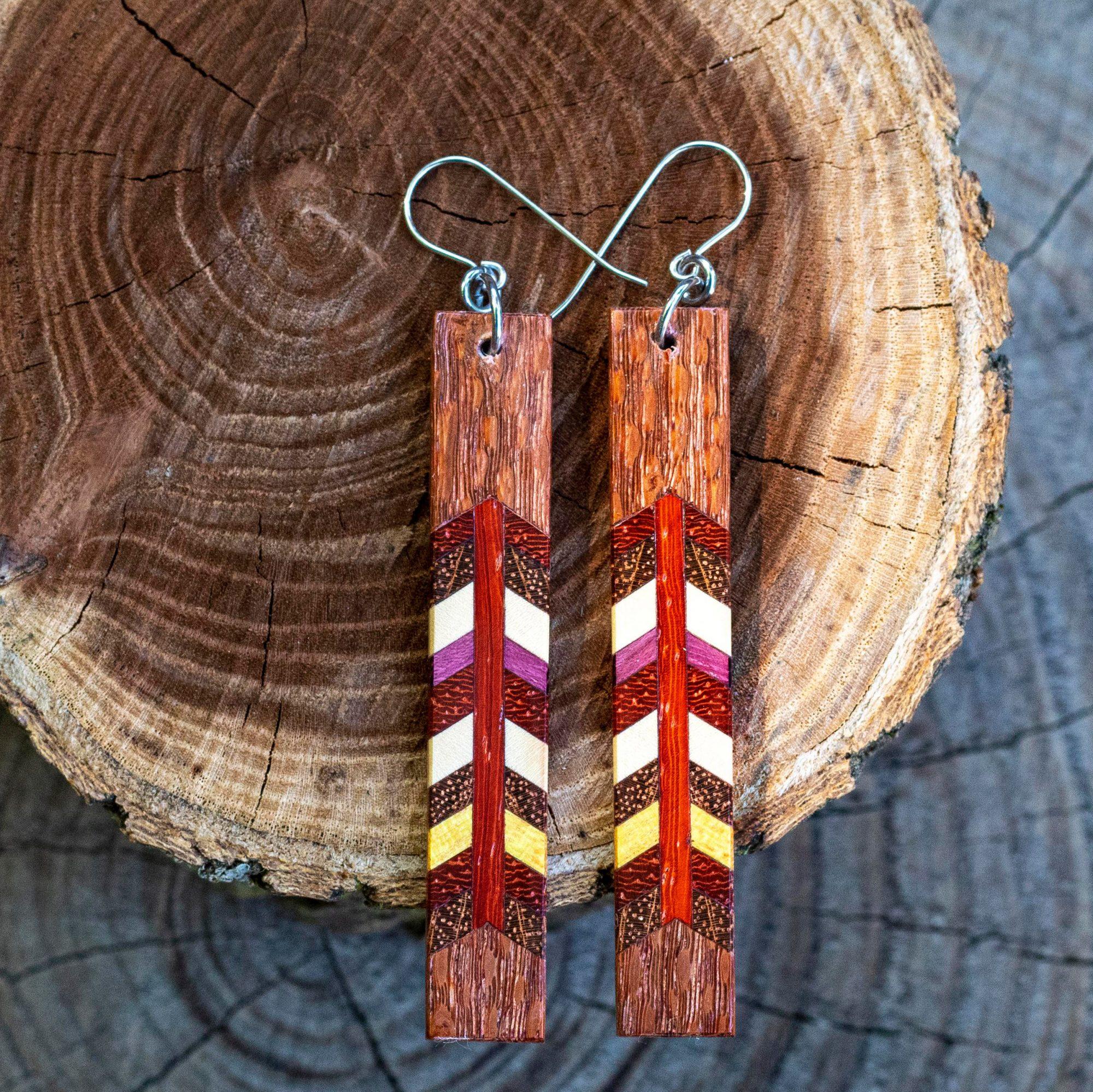 Brambles Woodwork earrings