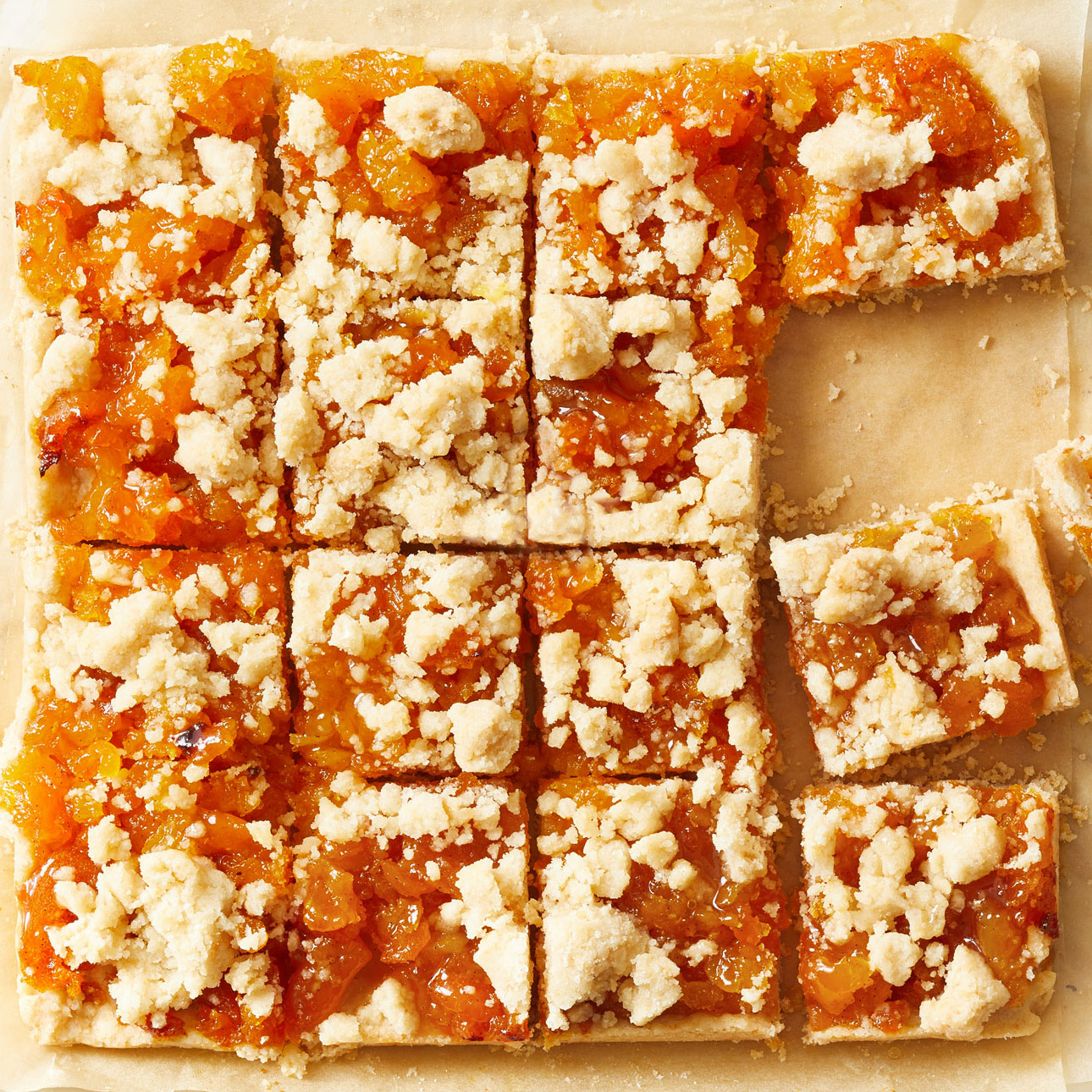 Brown Butter Apricot Bars
