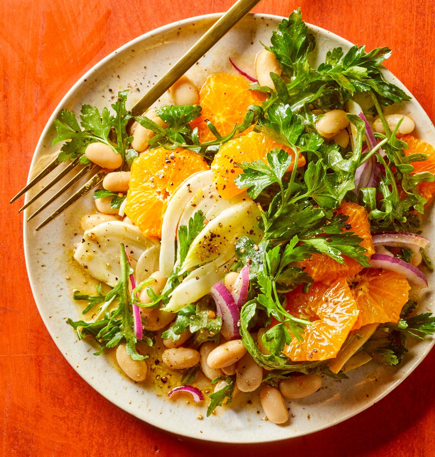 Winter Bean Salad with Fennel and Clementines