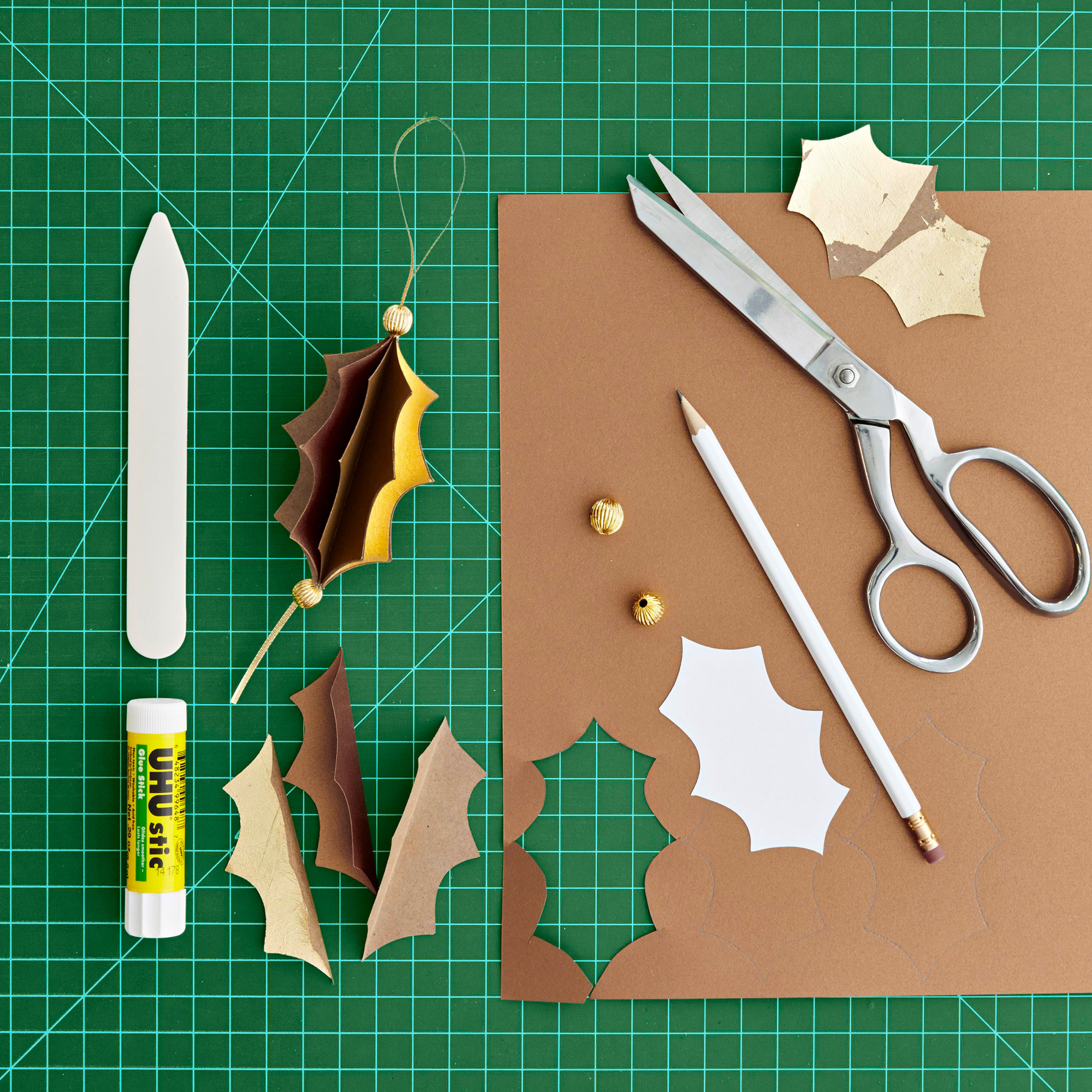 Gold-leaf holiday projects